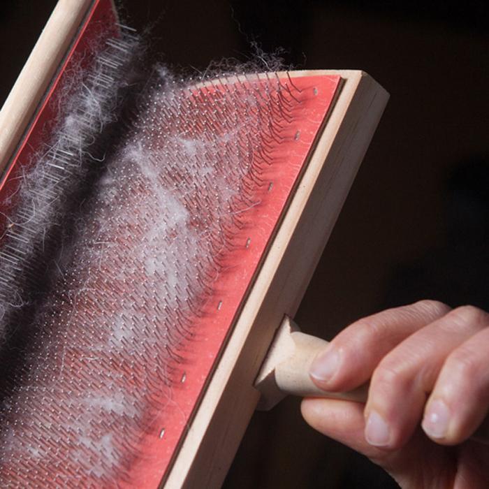 preparazione fibra cashmere per la filatura