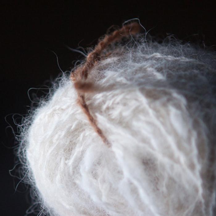 fibra di cashmere pronta per la tessitura
